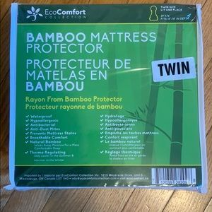 Bamboo Mattress Protector -Twin -NEW in packaging